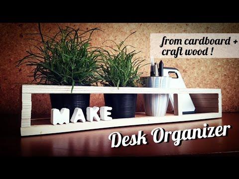 DIY Desk Organiser from Craft Wood n Cardboard