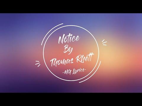 Notice By Thomas Rhett With Lyrics