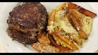 Гарнир к мясу из картошки дольками с чесноком и пармезаном рецепт от шеф-повара / Илья Лазерсон