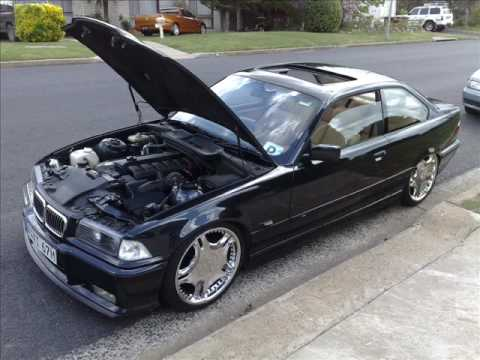 black bmw e36 325i coupe sound check youtube. Black Bedroom Furniture Sets. Home Design Ideas