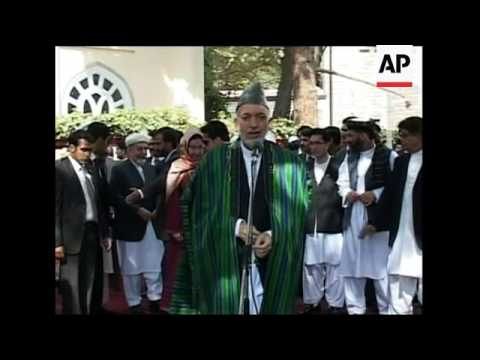 Afghan President Hamid Karzai comment on US pastor