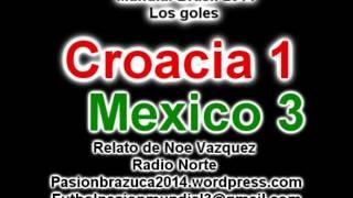 Croacia 1 Mexico 3 (Relato de  Noe Vazquez) Mundial de Brasil 2014