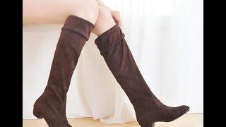 Женские замшевые сапоги - фото 2018 / Women's suede boots