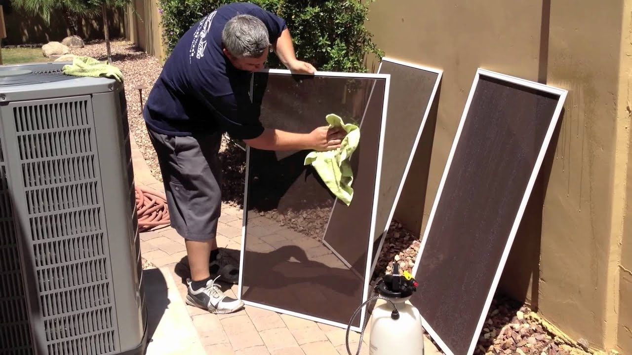 How To Clean Suncreens Solar Screens Bug Sun Window Cleaning You