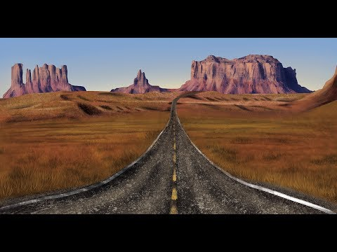 Route 66 | Landscape timelapse art | Photoshop digital painting