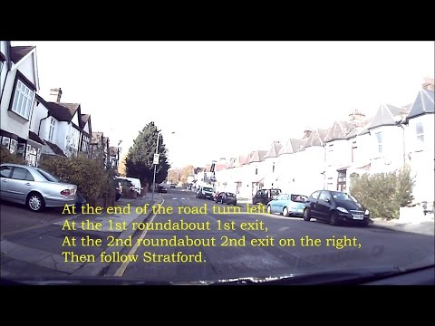 Barking Driving Test Center Routes 01 VC 'Easy1 Driving Scho