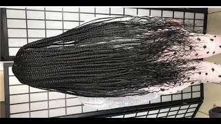 #369.  GODDESS BOX BRAIDS with HUMAN HAIR ENDS