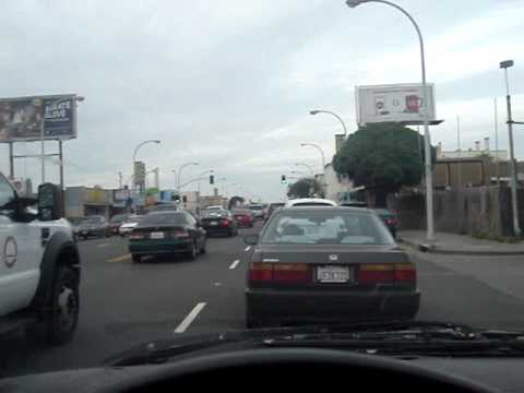 driving around 23rd st in Richmond California at rush hour