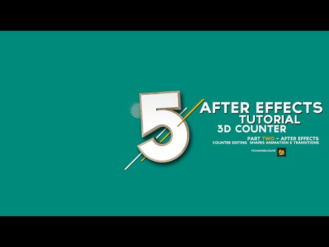 AFTER EFFECTS TUTORIAL- 3D COUNTER - (Part 2 After Effects )