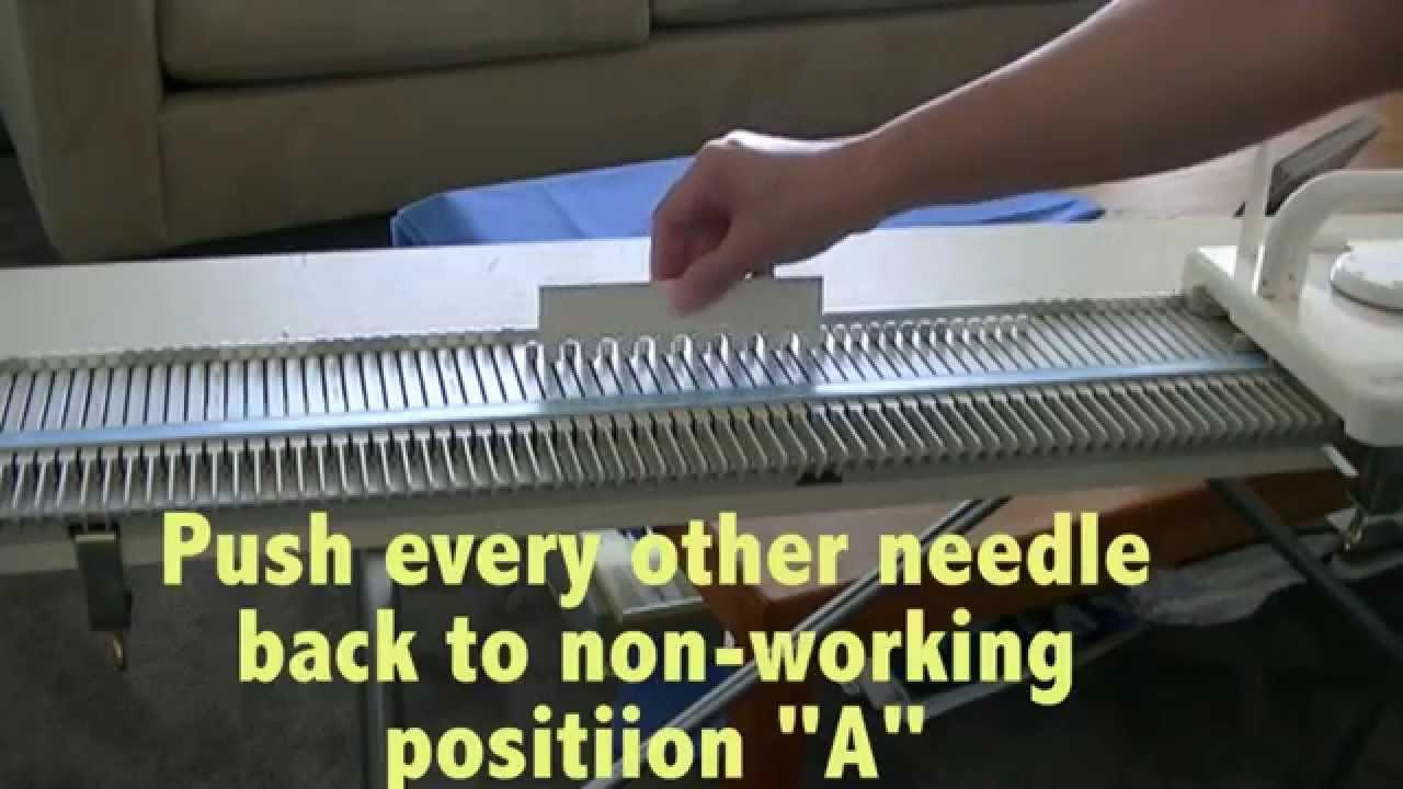 Making stripes with LK100 Chunky Bulky Knitting Machine 9 mm - YouTube
