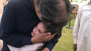 Laaibah Khan Yousafzai with  Qamar Zaman Kaira at Lalamusa for Dua of his son Usama Qamar