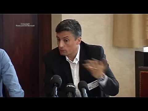 Conférence de presse Aboubabkr Jamai ,affaire Ali Anouzla ,Bruxelles le 15 octobre 2013