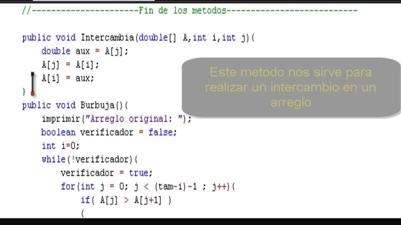 00001 como programar en java ordenamiento de burbuja for Como programar en java