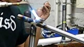Brazing Columbus Steel bicycle frame