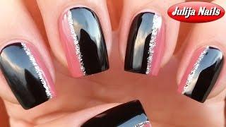 ▶ Дизайн ногтей с помощью скотч ленты и блесток