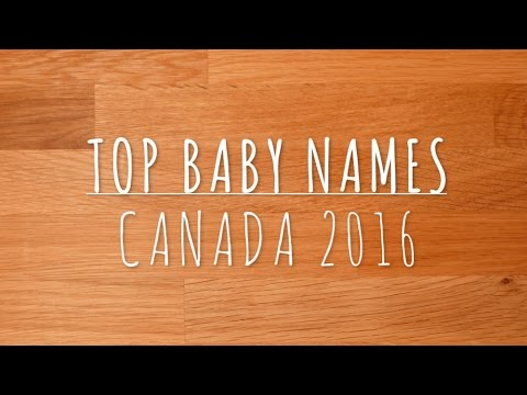 Top Baby Names Canada 2016