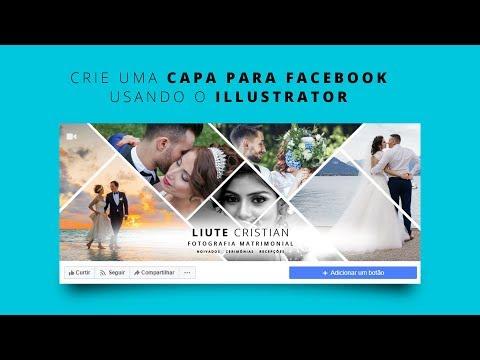 Crie uma capa para Facebook Fotografia de Casamento com o Illustrator