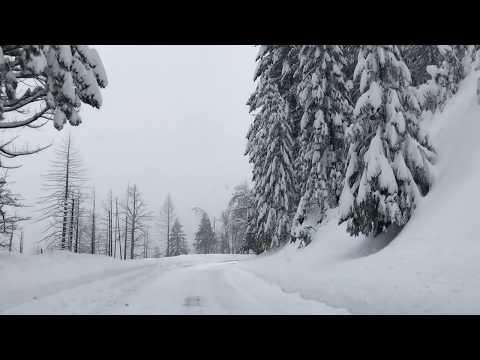 Drive To Yosemite In Winter.  Yosemite During Snow In  2019