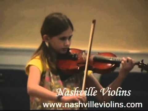 Nashville Violins violin student performs Concerto No 5 D Major Op 22 1st Mvt