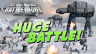 Star Wars Battlefront 2: HUGE Battle of HOTH!! & Battlefront 3 Commentary - 60 FPS