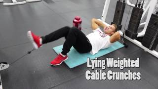 Lying Weighted Cable Crunches