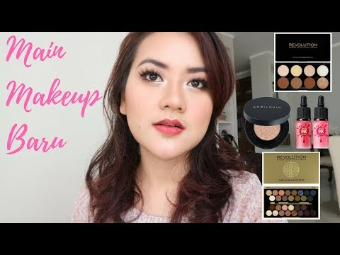 TUTORIAL PAKAI MAKEUP BARU - April Skin, Peripera, MUR Makeup Revolution
