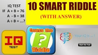 10 Brainy IQ and Riddles for All - ONLY A GENIUS CAN SOLVE THIS IN 15 SEC!!