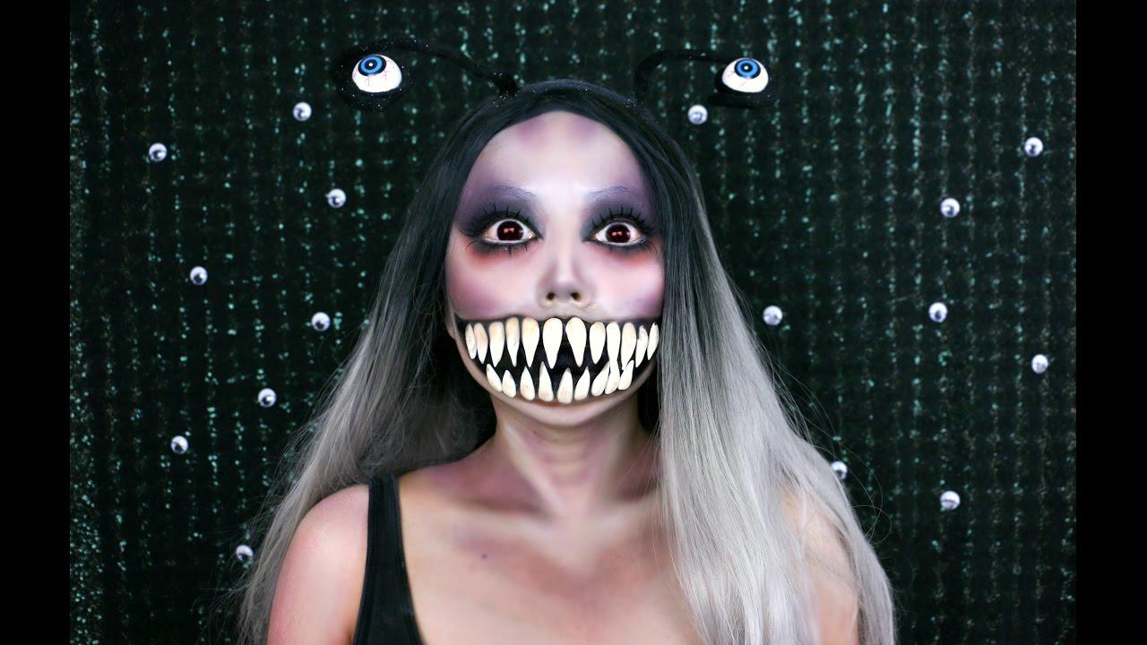 Scary Monster Slug Makeup Tutorial Youtube