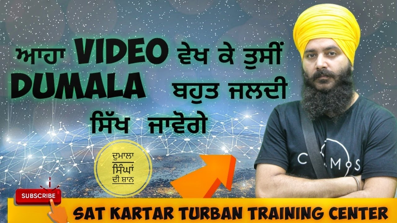 Download How to Tie Dumala Tutorial Sat Kartar Turban Training center 9988001021