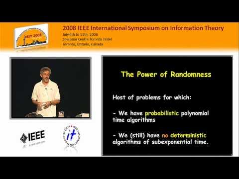 Avi Wigderson - Randomness - A Computational Complexity View