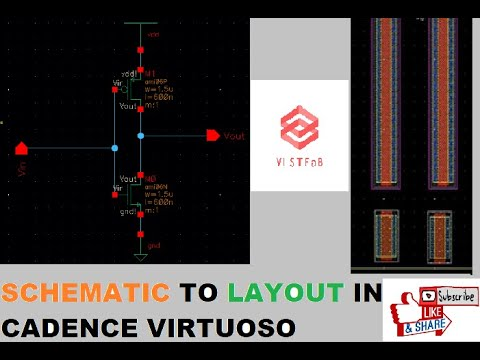 How to make layout directly from schematic in cadence virtuoso
