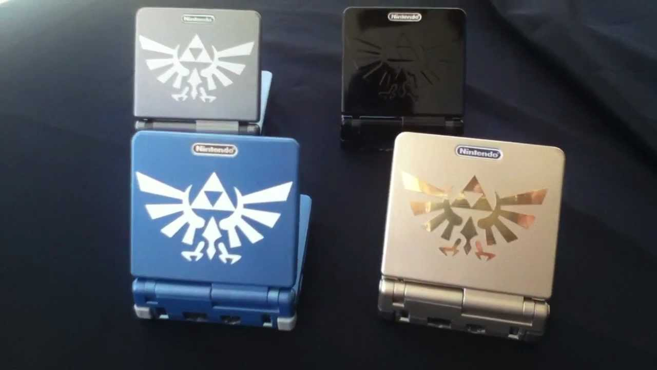 Another Set Of 4 Gameboy Advance Sp All Custom Painted Ags