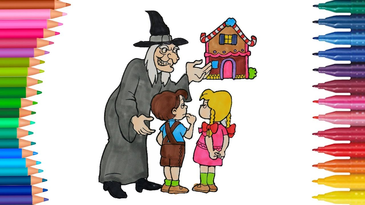 Hansel y Gretel juego de pintar con El Pollito Pio cancion | Manos ...