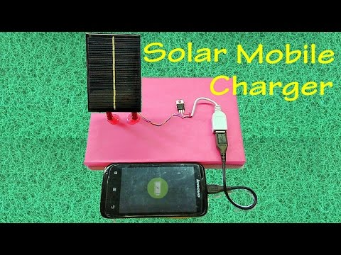 How to make Solar Mobile Phone Charger | USB Smartphone Charger |