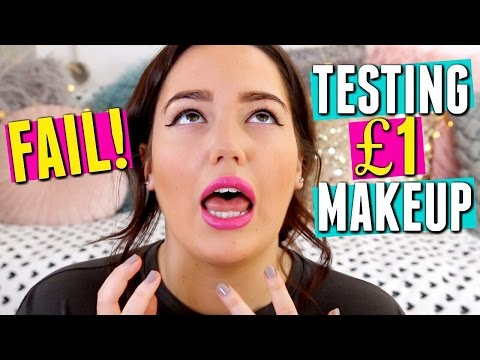 TESTING £1 POUNDLAND MAKEUP 😩 FAIL!!!