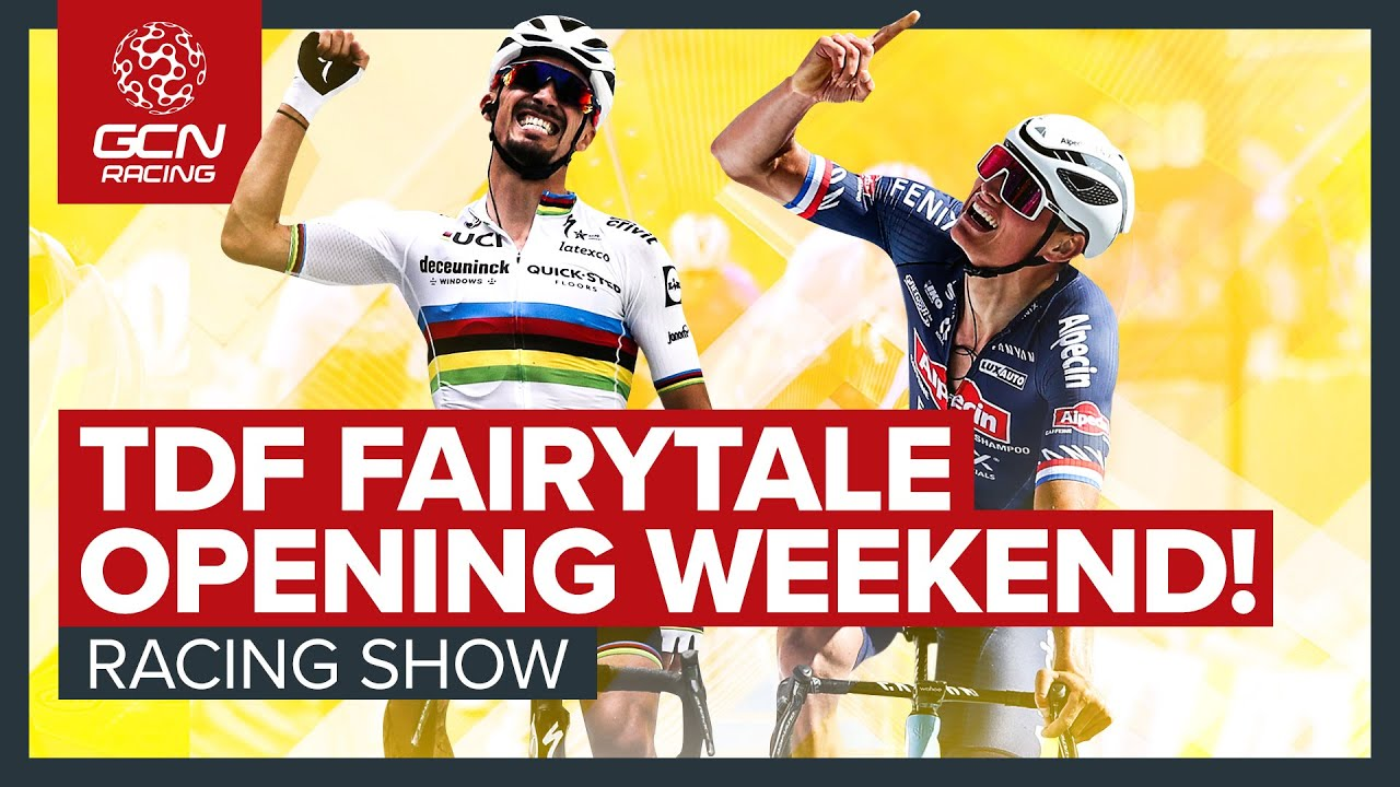 Alaphilippe & Van Der Poel Deliver Dream Tour de France 2021 Opening Weekend   GCN Racing News S