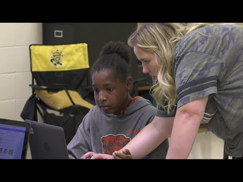 Bryant Opportunity Academy Coding with WSU students