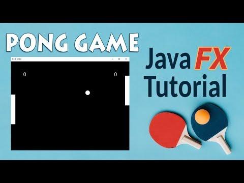 PONG Game, Java (fx) Programming Tutorial