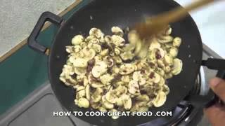 Super Easy N Fast Creamy Garlic Mushroom Pasta Recipe