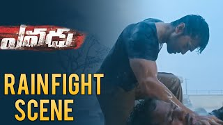 Yevadu Telugu  Movie Scenes - Ram Charan Rain Fight | Allu Arjun, Amy Jackson, Shruti Haasan