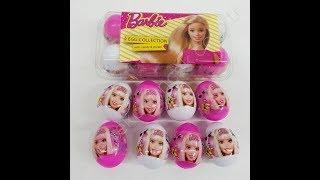 Barbie Sürpriz Yumurta Aldık 8 Tane. Hepsinin İçinden Şeker Çıktı Eflin Çok Sevindi.