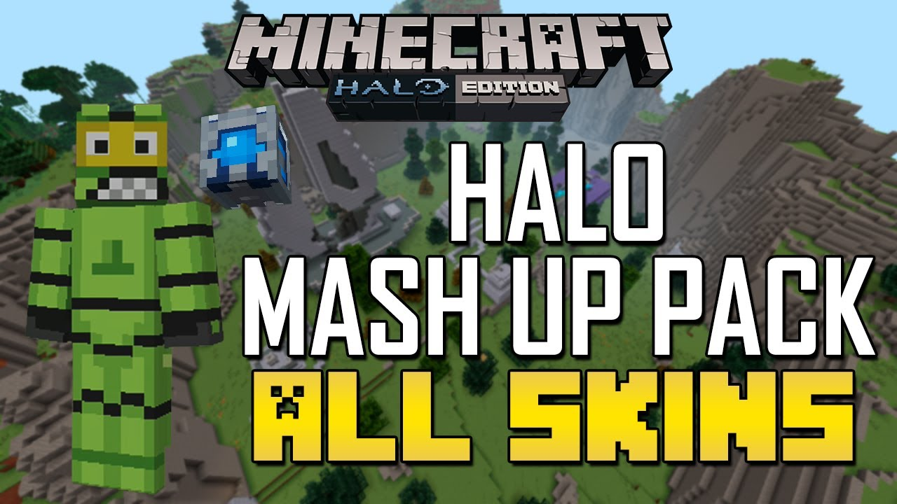 Minecraft Xbox All Halo Mash Up Pack Skins YouTube - Skins para minecraft pe halo