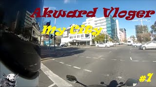 AWKWARD MOTOVLOG #1 - MY FIRST ATTEMPT - MY CITY