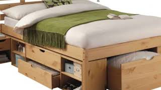 Pine Double Bed Frame and Mattress in India