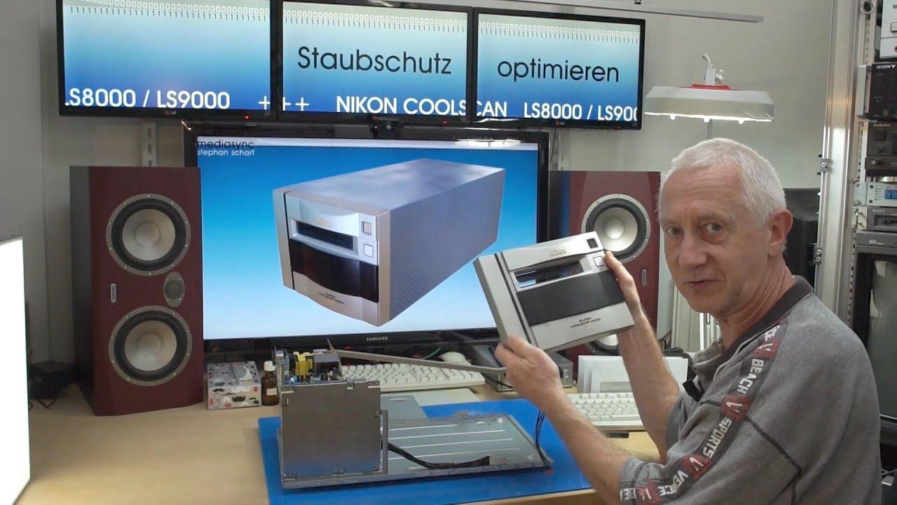 NIKON Coolscan LS8000 LS9000 - Staubschutz optimieren