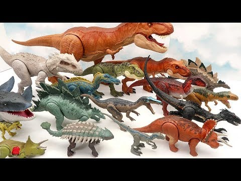 30 Jurassic World Dinosaur Collection! My Dinosaurs Toys For Kids - Real And Action Dino Toys