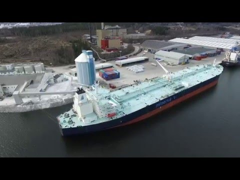 Tanker Ship Minerva Nike in Sundsvall, Sweden for the first time!