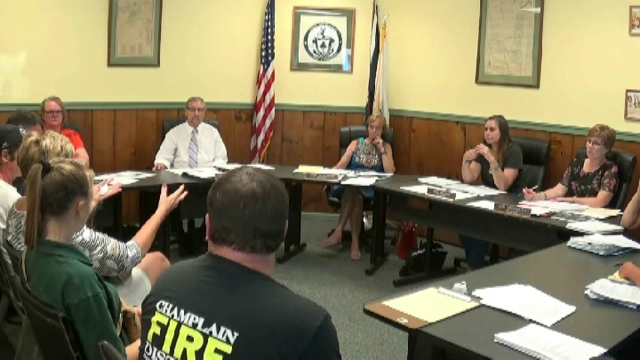 Champlain Village Board Meeting  8-5-19