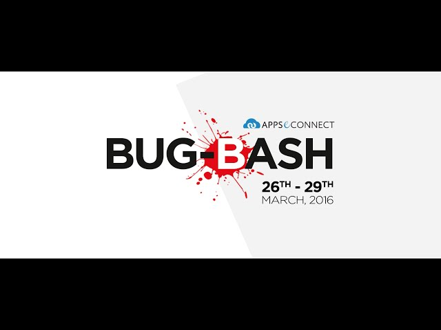 Bug Bash 2016 | APPSeCONNECT | Product by InSync | iPaaS