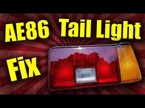 Red Rear Tail Lamp Fix Brake Light Lens Repair Tape for Toyota Hiace V